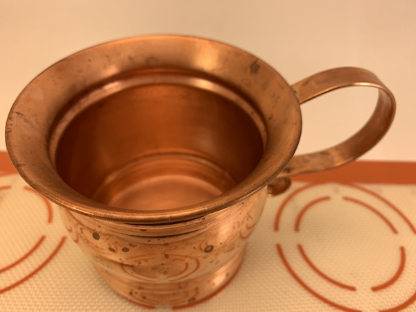 clean copper mugs