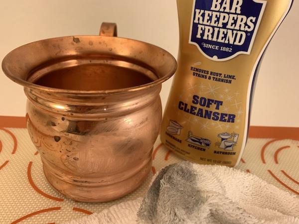 clean copper mugs