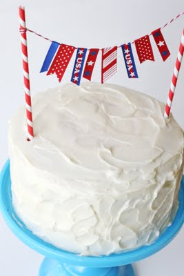Flag Cake Layers