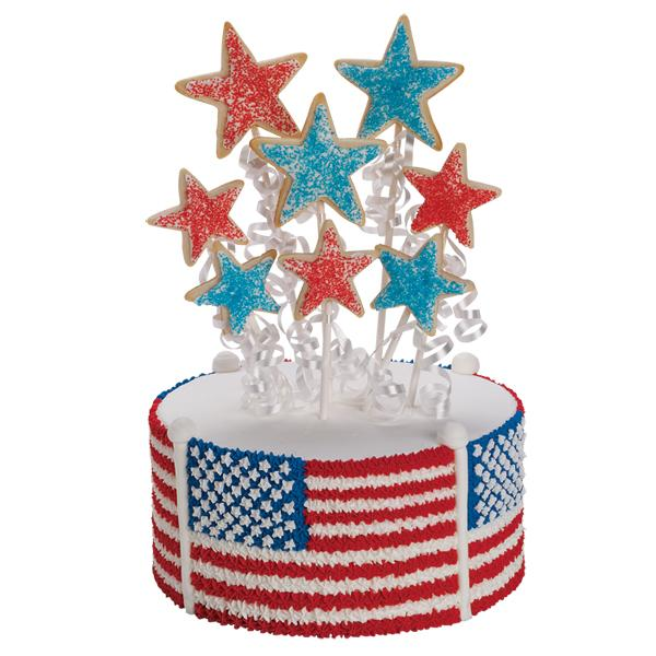 Piped Flag Cake