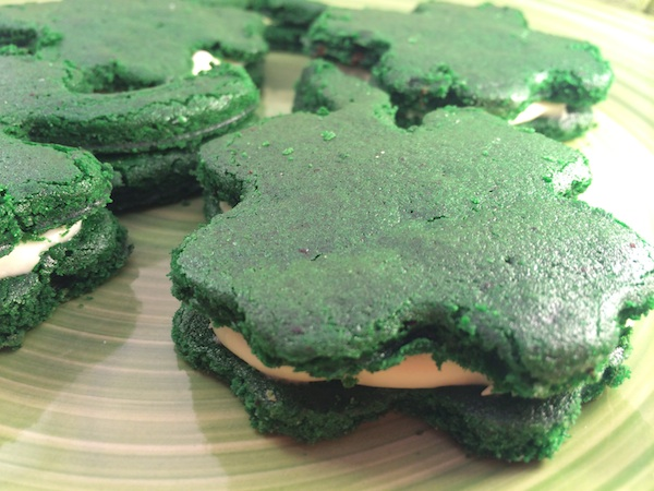 Green Velvet Shamrocks