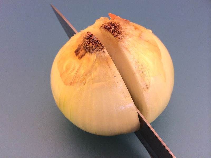 cut an onion