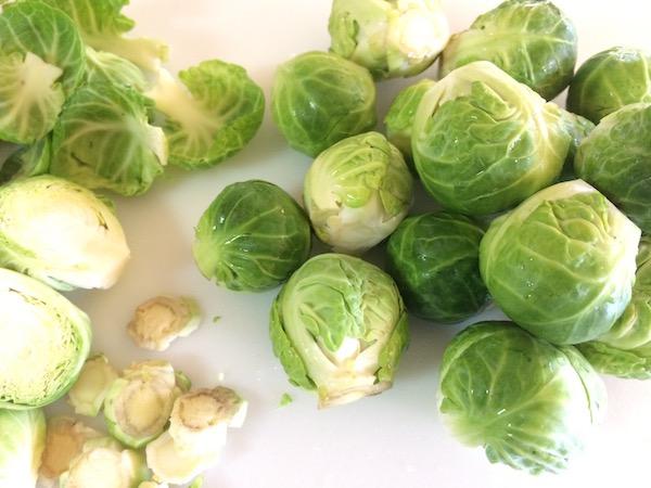 prepare brussel sprouts
