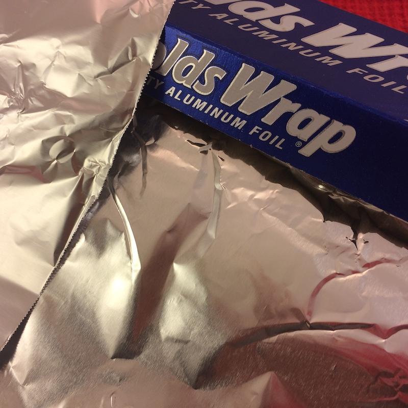 side of aluminum foil
