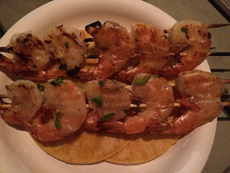 how to skewer shrimp