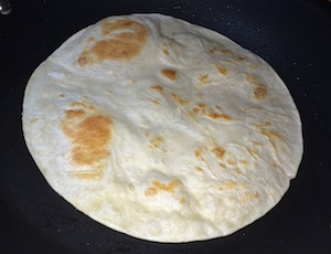 warm tortilla
